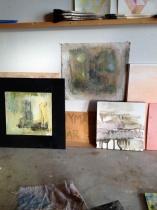 140312 målningar i ateljén