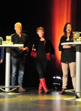 Daniel Lundqvist, Linda Nordfors, Emilia Rekestad at Elektron